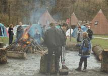 Das Lagerfeuer aus der Nähe